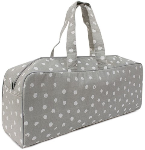 Wollplatz Stricktasche Medium Grey Dots