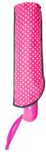 Wollplatz Regenschirm mit weißen Punkten