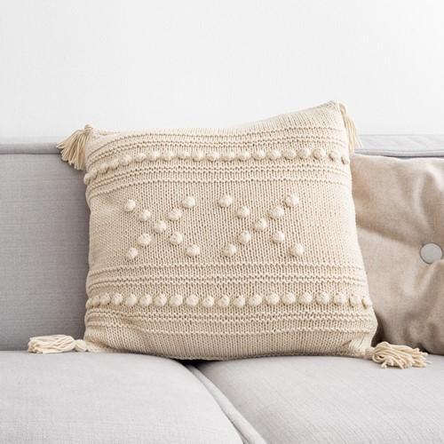 """Yarn and Colors """"XX"""" Cushion Strickpaket 003 Ecru"""